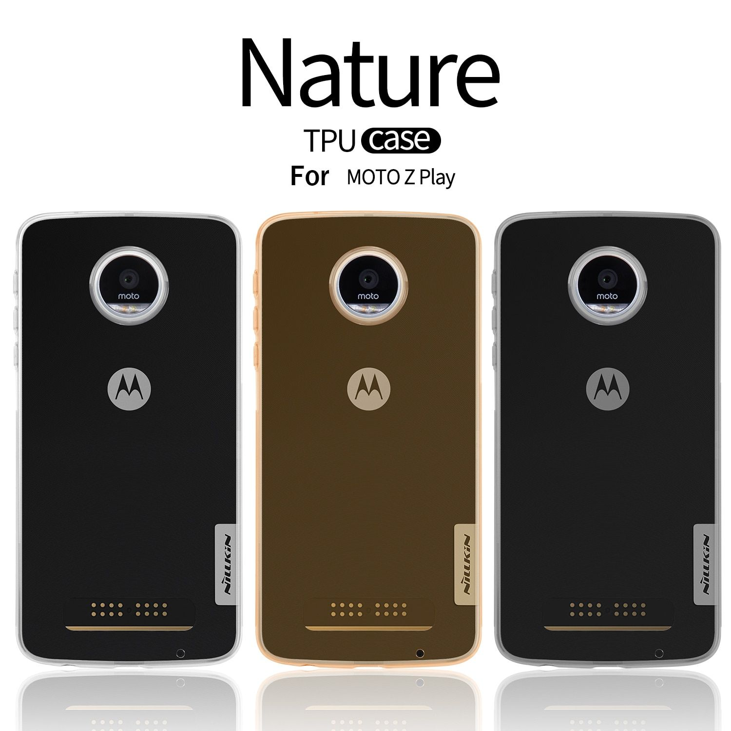 NILLKIN Ultra Thin Slim TPU Case For Motorola MOTO Z Play XT1635 Hight Quality Soft TPU Back Cover For Motorola MOTO Z Play