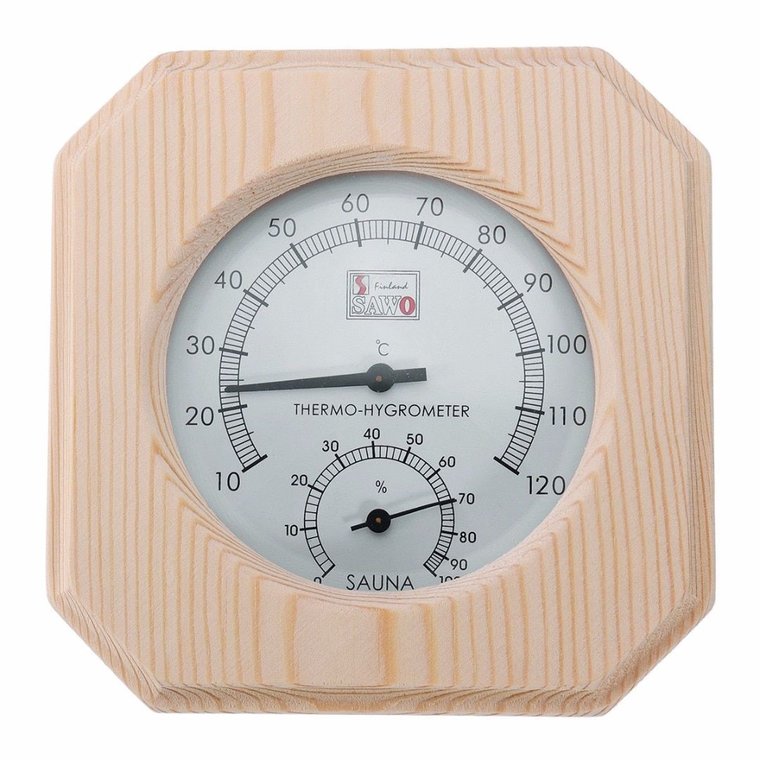 Mayitr Wood Temperature Measuring Sauna Room Thermometer Hygrothermograph Hygrometer Humidity Measure Home Supplies