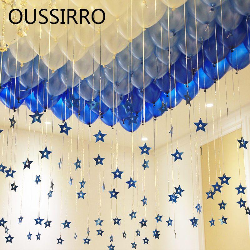 100 STÜCKE Ballon fünfzackigen Stern Tisch Disperse Partie Confettis Argent Gießen Garten Party Dekoration