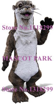 High Quality Realistic Otter Mascot Adult Costume bank beaver river otter Theme Anime Cosplay Fursuit Costumes Fancy Dress