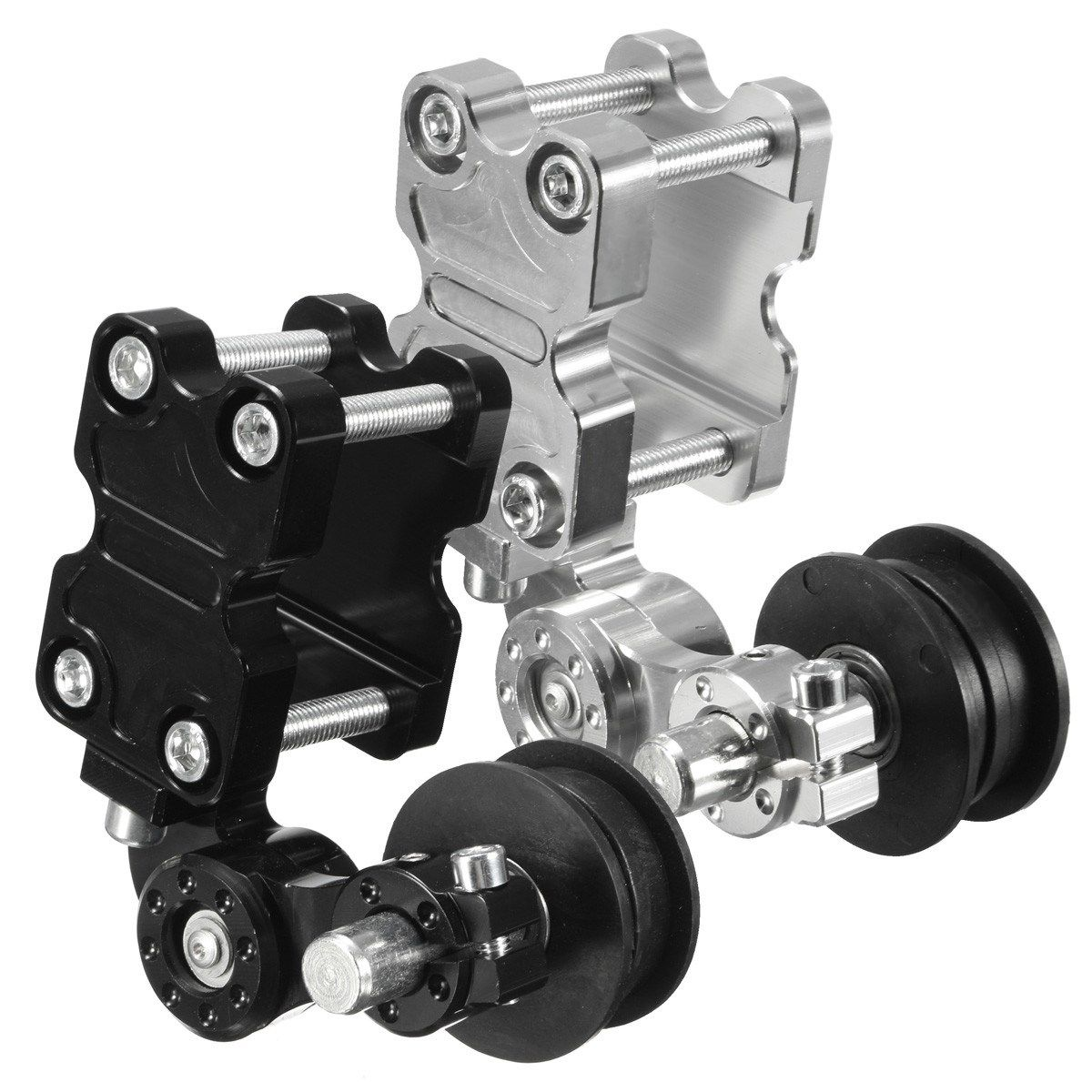 Universal Black Silver Aluminum Adjuster Chain Tensioner Roller For Motorcycle /Chopper ATV