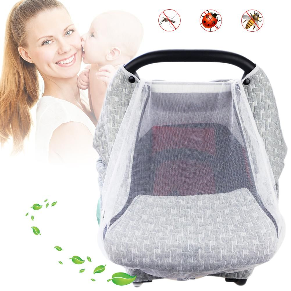 Baby Stroller Pushchair Cart Mosquito Insect Net Sun Protection Sunshade Heat Insulation Cover Sunshield Mosquito Net for Baby