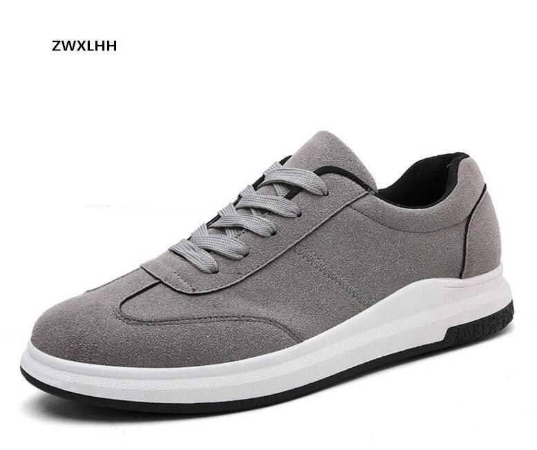 Ventes chaudes à l'automne de 2017 nouveaux hommes suede toile de chaussures, 3-color hommes vulcanisé chaussures modèle 122 TAILLE 39-44
