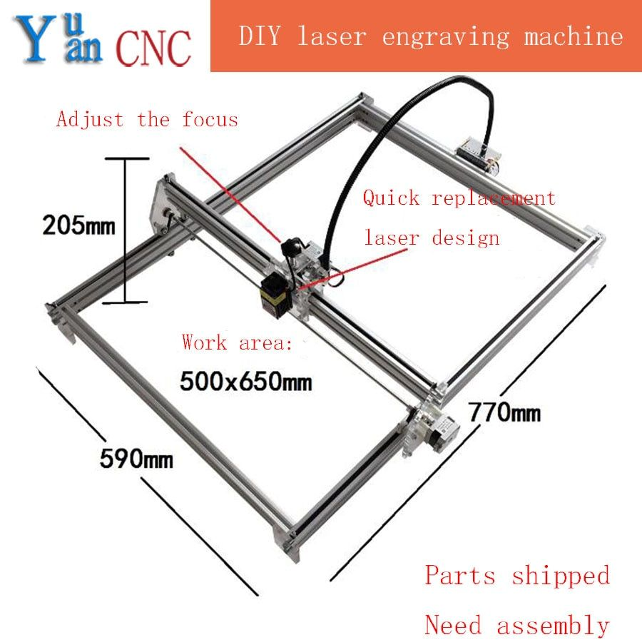 6550 DIY CNC machine Laser Machine De Gravure bois routeur Mini Machine de Marquage Avancée Jouets Bleu violet lumière