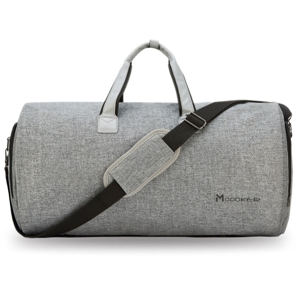 Modoker Travel Garment Bag with Shoulder Strap Duffel Bag Carry on Hanging Suitcase Clothing Business Bag Multiple Pockets