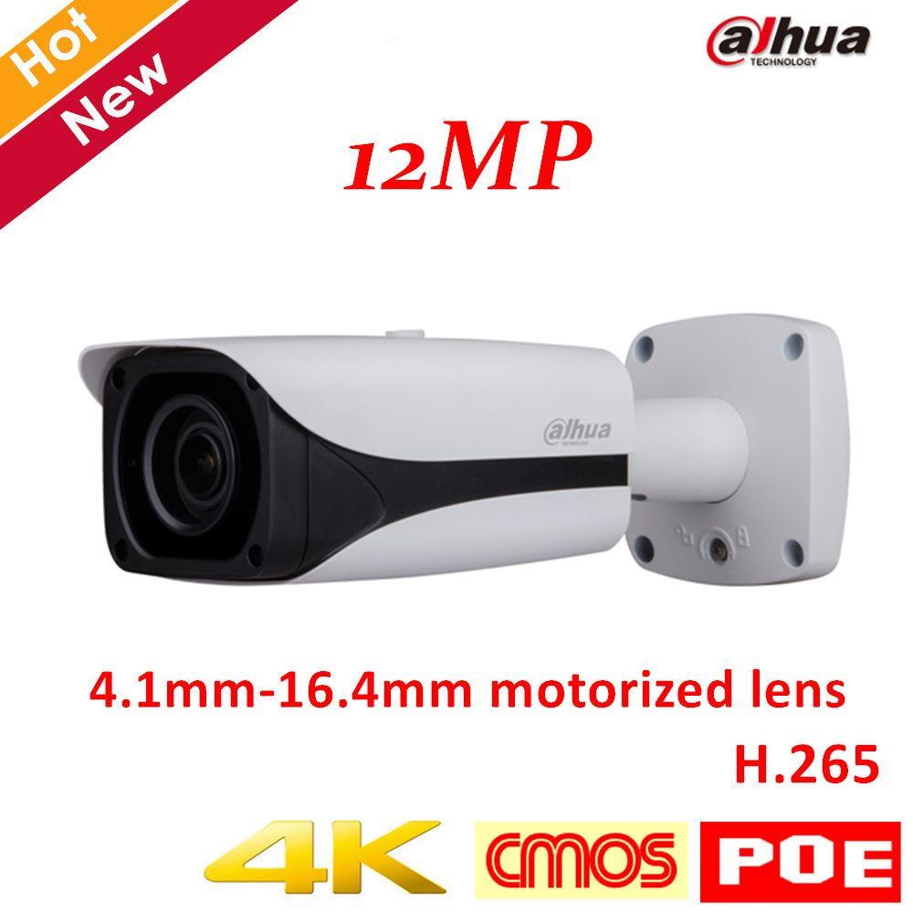 New Arrival 4k 12MP Dahua IP Camera IPC-HFW81230E-Z IR Bullet Camera 4.1mm-16.4mm motorized lens Support POE and SD card