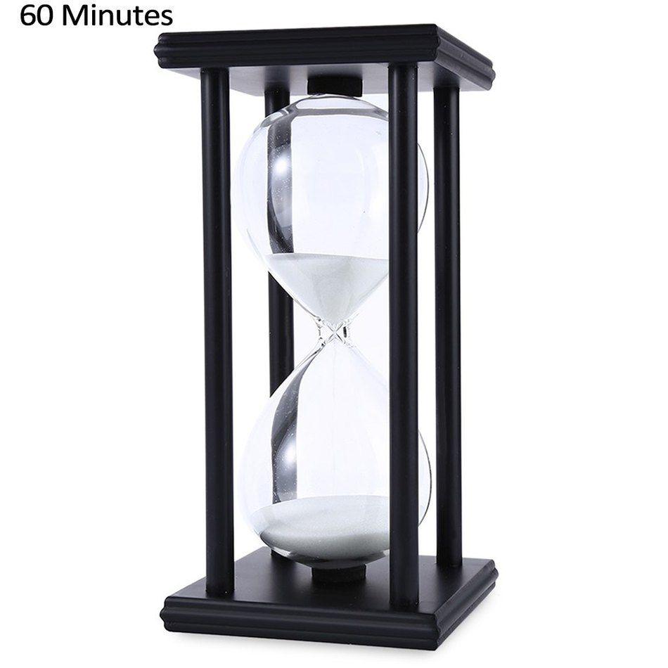 En bois Sablier Sable Sablier 45/60 Minute 20.5*10*10 Compte À Rebours Minuterie Horloge De Noël D'anniversaire Cadeau Décoration Reloj de Arena