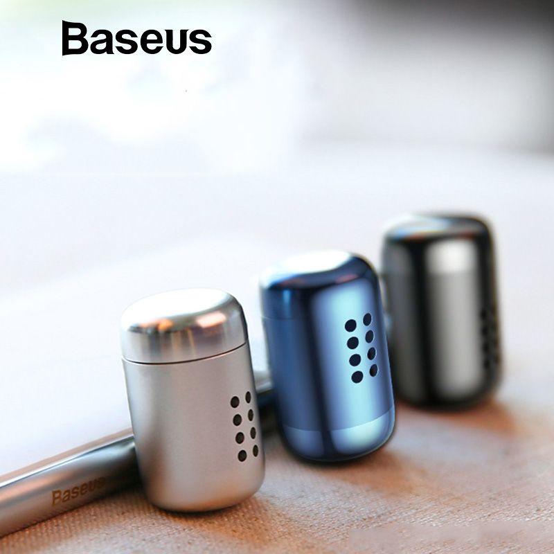 Baseus métal aromathérapie voiture support pour téléphone assainisseur d'air pour Auto désodorisant climatisation Clip diffuseur solide parfum