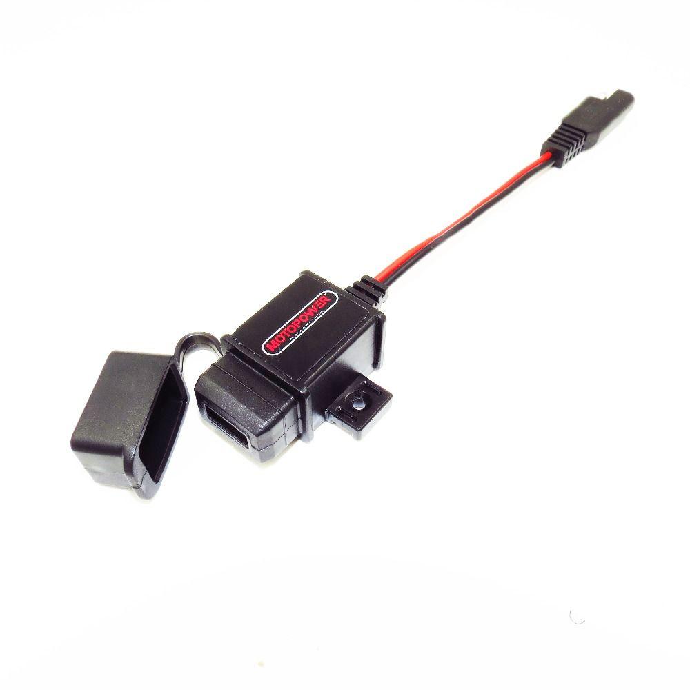 MOTOPOWER MP0609 3.1amp Étanche Moto USB Chargeur Chargeur de Téléphone GPS Chargeur SAE à USB Adaptateur