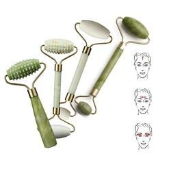 1 Pc Double Head Green Jade Roller Massager Eye Face Neck Facial Relax Slimming Thin face Body Beauty Health Care Tools