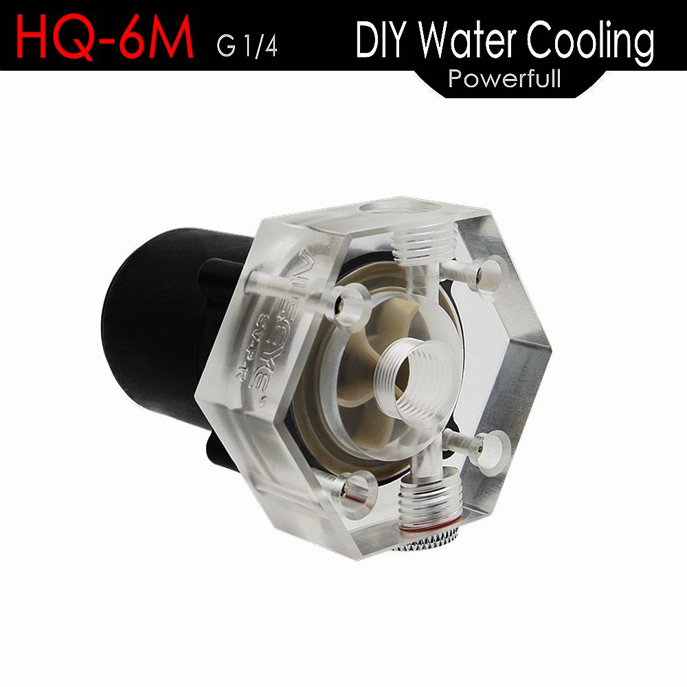 ALSEYE Computer Water Cooling Pump HQ 6M 10000RPM DC 12V DIY CPU Water Cooler Pump G1/4 Thread for Gaming PC CPU and GPU
