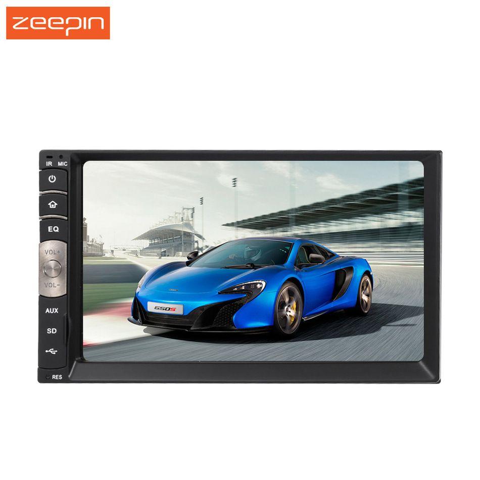C500 Универсальный 2 DIN 7 дюймов Сенсорный экран Авто Стерео Авторадио Радио bluetooth fm тюнер AM USB MP3 MP4 V плеер CarPlay