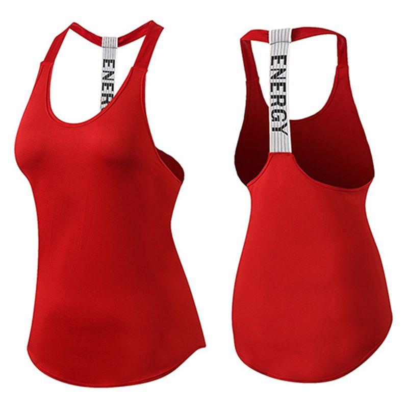 Gym haut noir sans manches Yoga haut Gym femmes chemise Fitness T-Shirts secs hauts d'entraînement hauts de sport Gym femmes dos nu chemise
