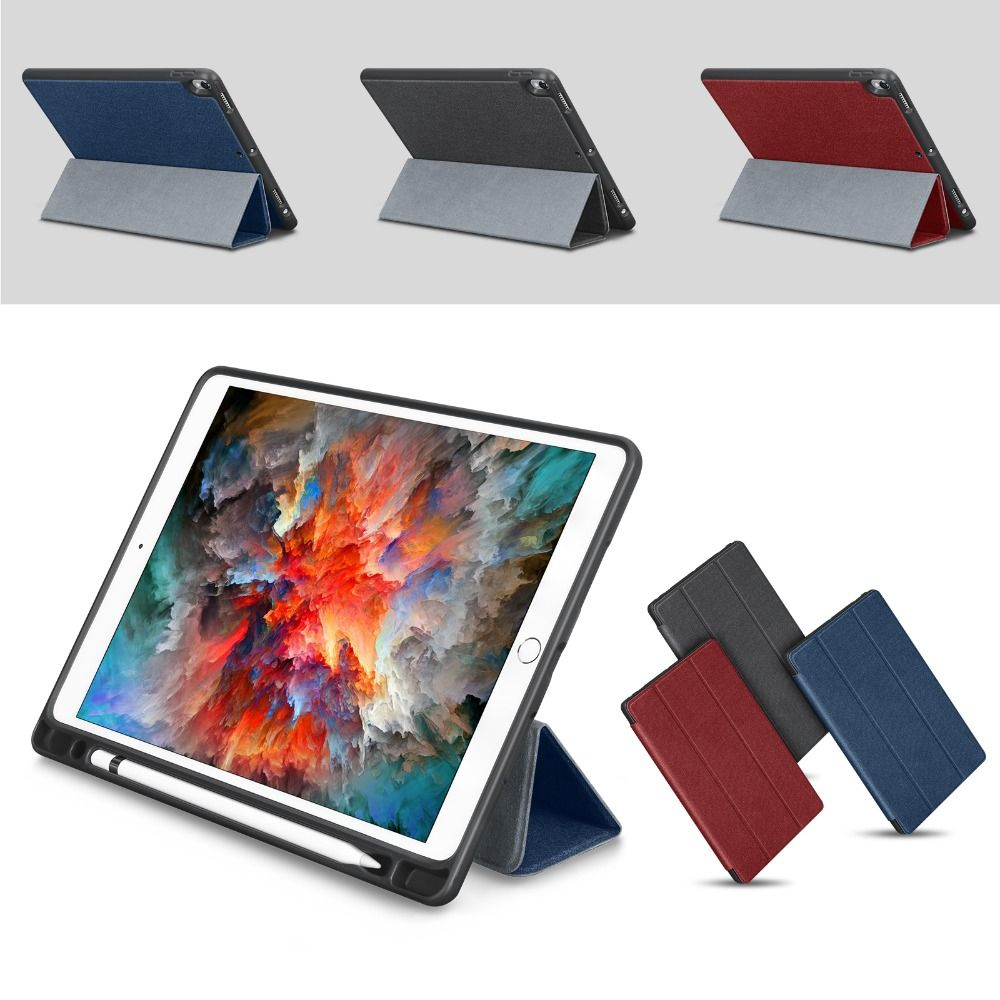 For Apple iPad Pro 10.5 Case 2017 New PU Leather Slim Smart Cover W Pencil Holder Wake Sleep Function For iPad Pro 10.5 Case