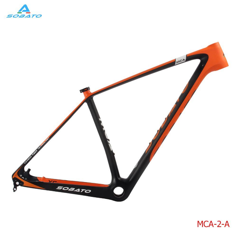 SOBATO 2017 Neueste Radfahren Rahmen Vollcarbon Mtb MTB 29ER Steckachse Rahmen + Achse 142mm
