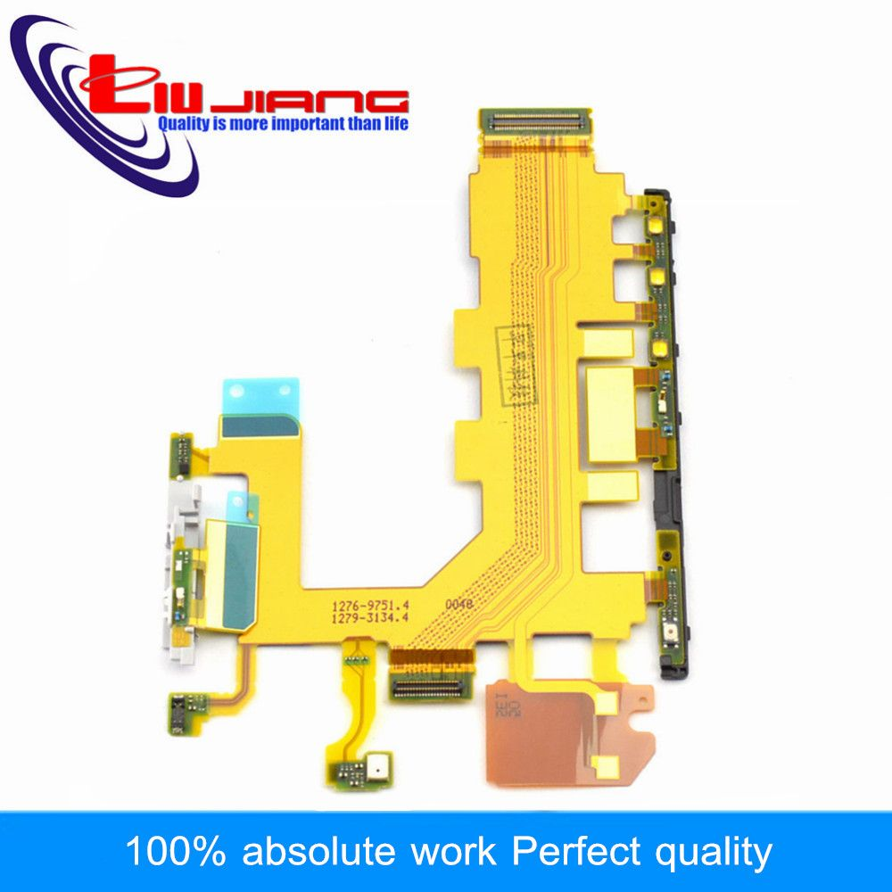 Liujiang Original Switch On Of For Sony Z2 L50W D6502 D6503 D6543 Power Button Volume Switch Flex Cable Microphone Replacement