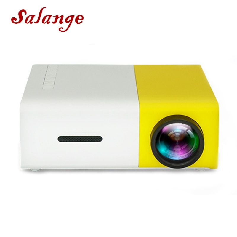 Salange YG-300 Mini LCD LED Projector YG300 Projector 400-600LM 1080P Video 320x240 Pixel Best Home Proyector