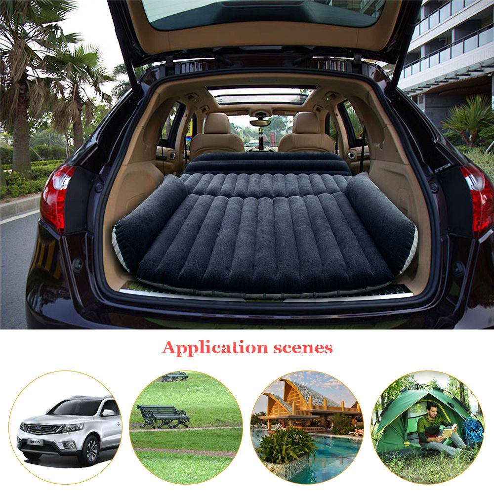 Deflatable Air Inflation SUV Car Bed Mattress Back Seat Camping Flocking PVC Drive Travel Car Seat Cover Inflatable Car bed
