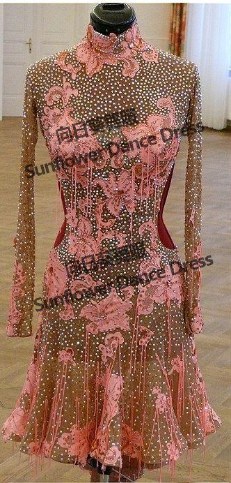 Latin Dance Kleid ballsaal tanzkleider salsa tanzen kostüm für turniertanz kleidung Sunflower Tanzkleid