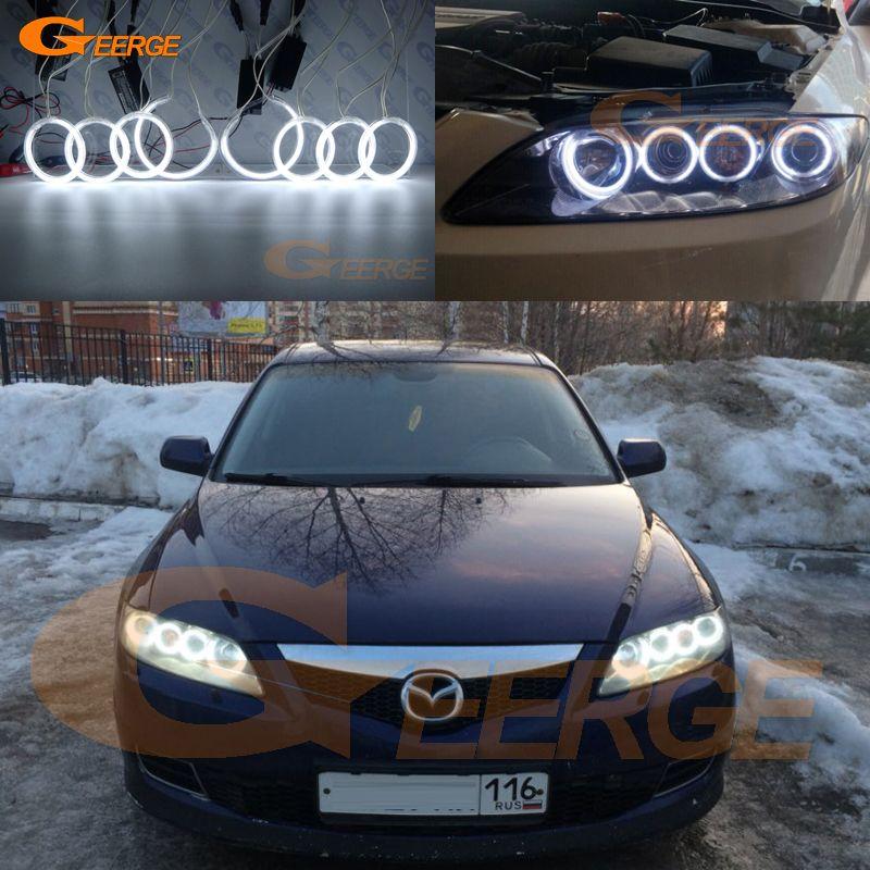 For Mazda 6 Mazda6 Mazdaspeed 6 MS6 2002-2008 Excellent 8pcs Angel Eyes Halo Ring Ultra bright illumination CCFL Angel Eyes kit