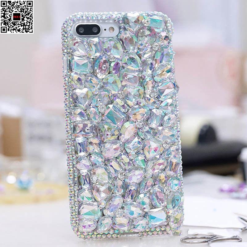 Diamant Fall Für LG K10 5,3 Bling Luxus 3D Handmade Schutzmaßnahmen Weiche TPU Klar Strass Zurück Abdeckung Für LG K10 G6 G5 G4 G3 K8
