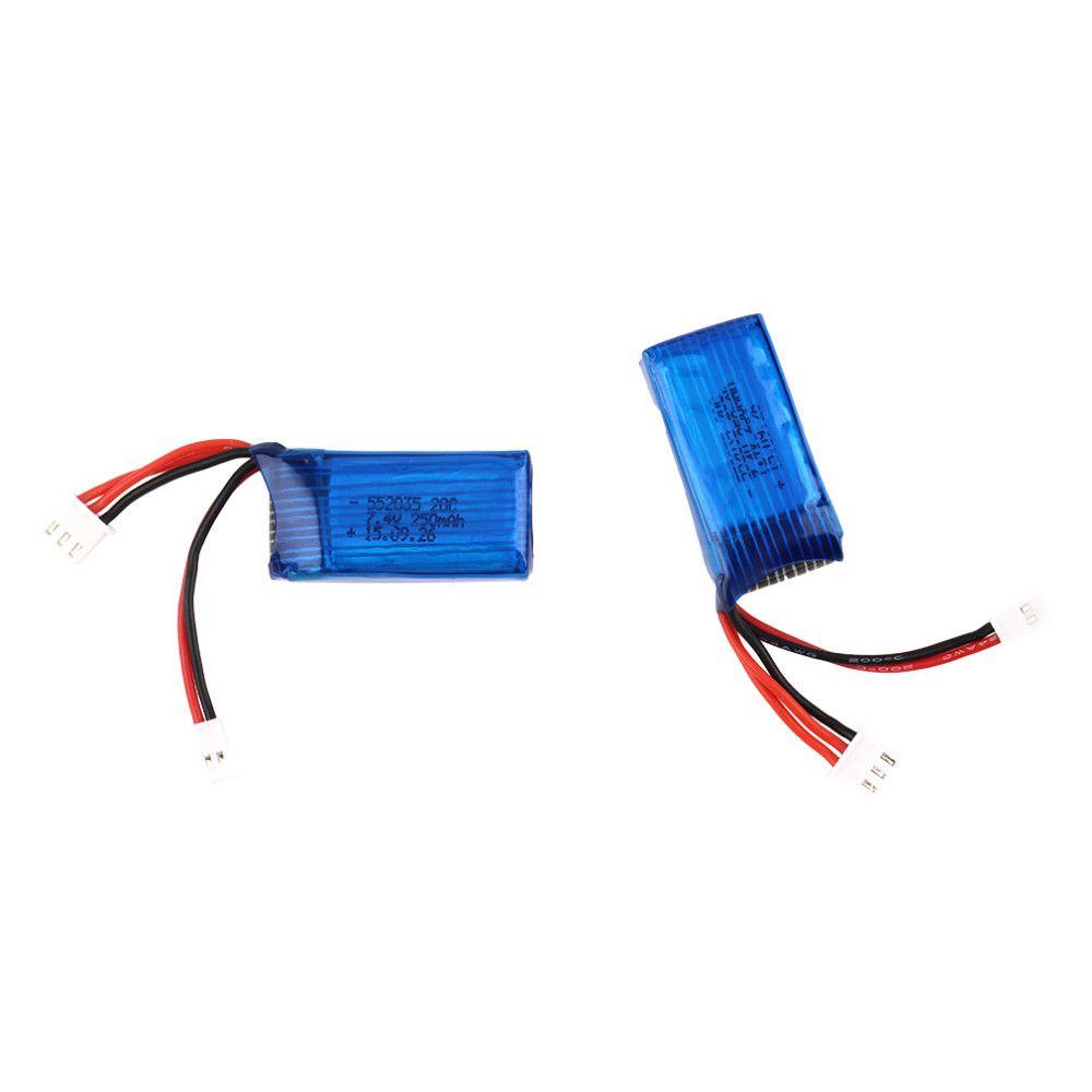 2 pcs/lot 7.4 V 250 mAh 20C 2 S Losi Micro SCT 1/24 batterie de carte courte pour Mini télécommande voiture 1/24 Rc Mini hélicoptère