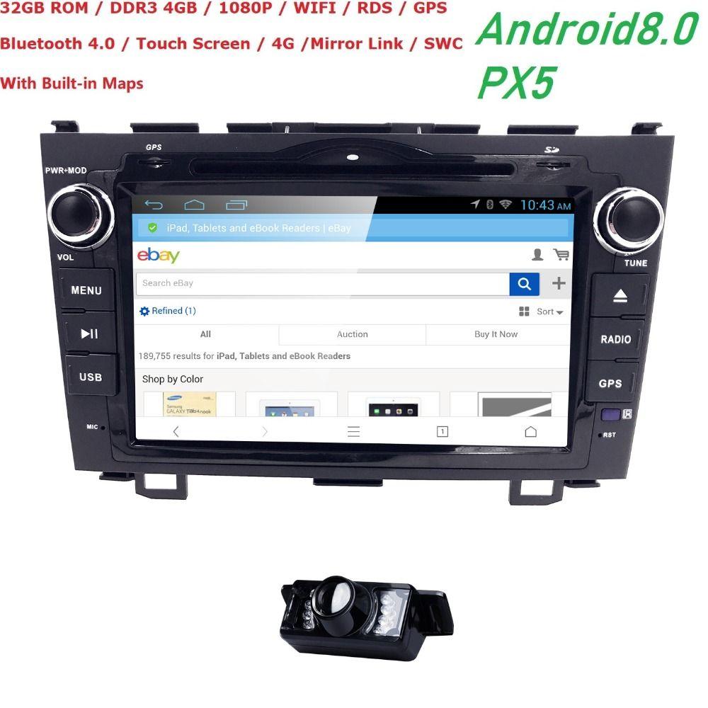 Hizpo NEUE Android 8.0 8 zoll Octa Core Auto dvd Video GPS Für Honda CRV 2006-2011 Kapazitiven bildschirm 1024*600 + 4g wifi + 4 GRAM + 32 GROM