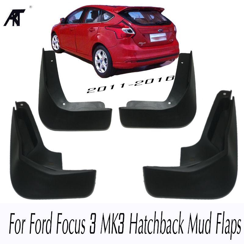 Mud Flaps For Ford Focus 3 MK3 Hatchback 2011-2016 Front Rear Mud Flap Mudflaps Splash Guards 2015 2014 2013 2012