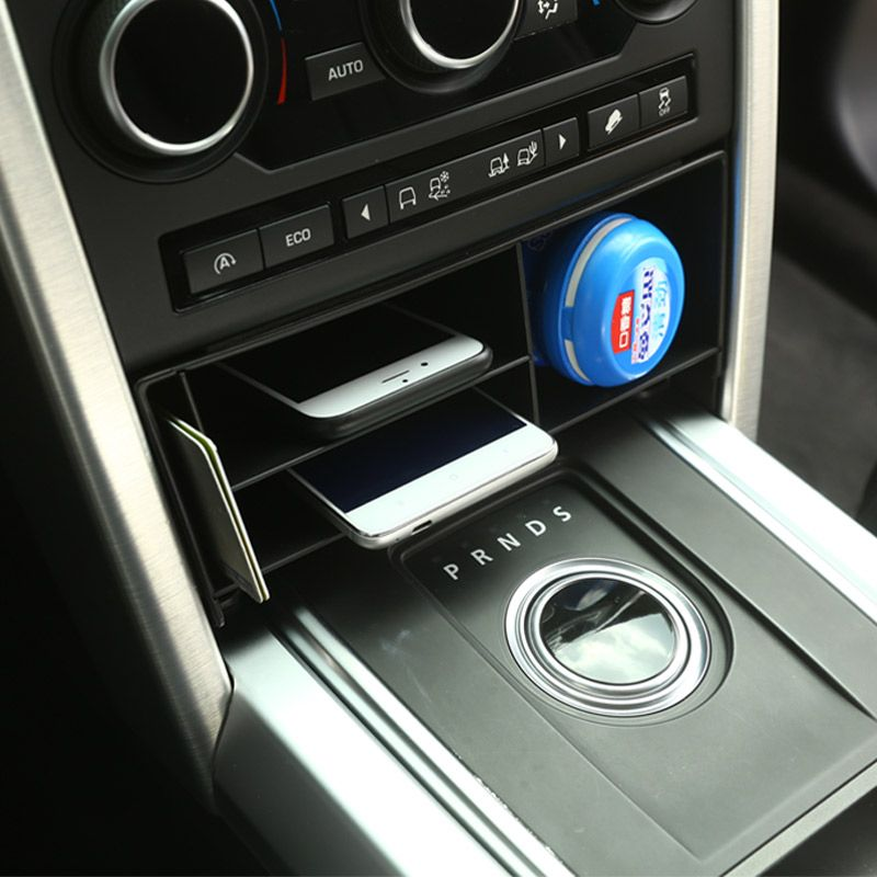 For Land Rover Discovery Sport 2015 2016 2017 Car-Styling Plastic Central Console Multifunction Storage Box Phone Tray Accessory