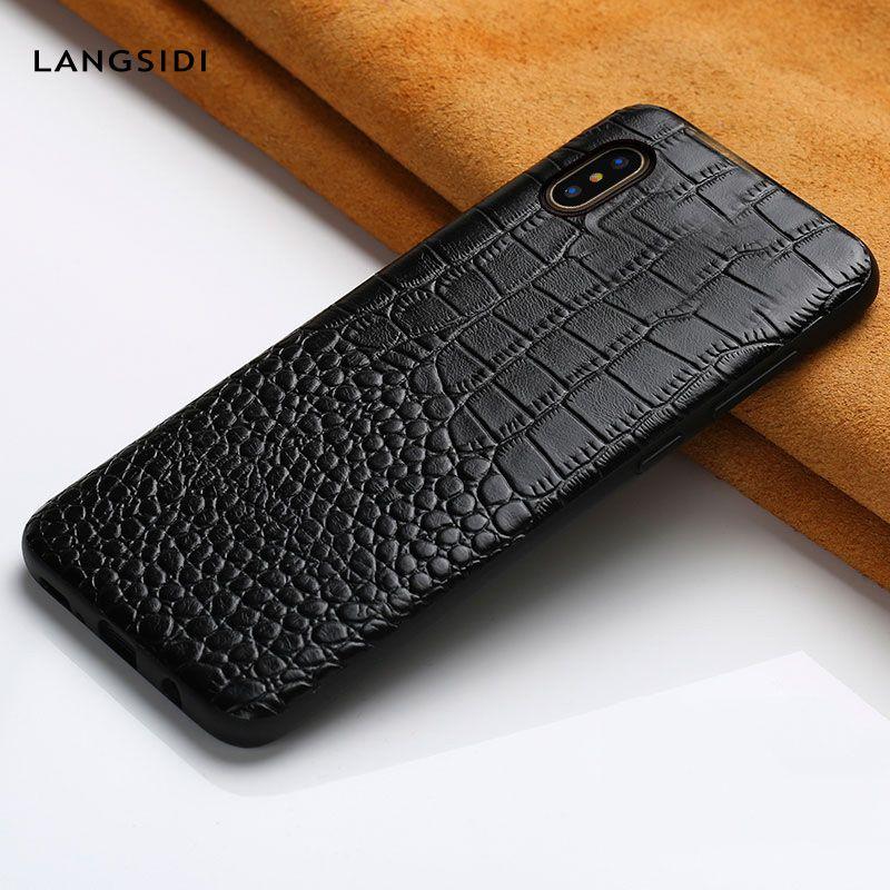 Étuis pour iphone X XR XS XS de luxe en cuir véritable pour iphone 6 5 5s se 6 S 7 8 plus pour étui pour apple 360