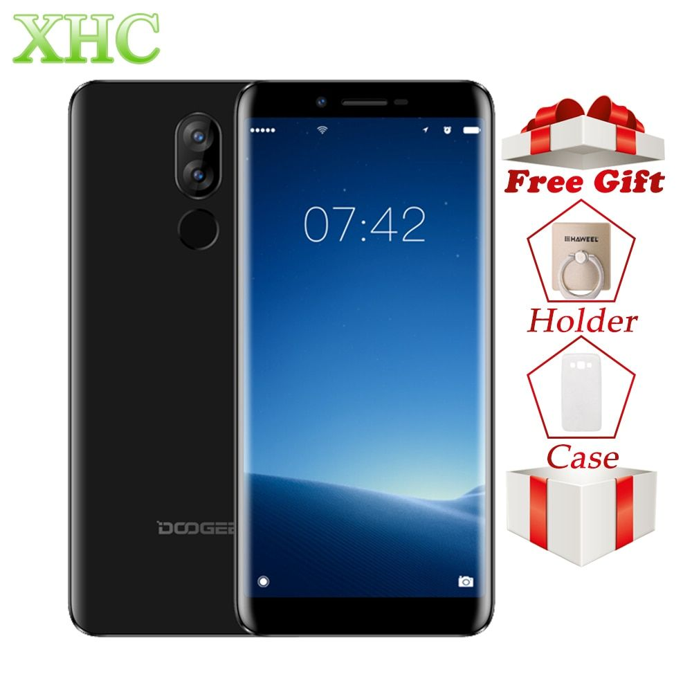 4G DOOGEE X60L 5.5inch Android 7.0 Mobile Phones RAM 2GB ROM 16GB MTK6737V Quad Core 13MP 8MP Dual SIM Quick Charge Smartphones