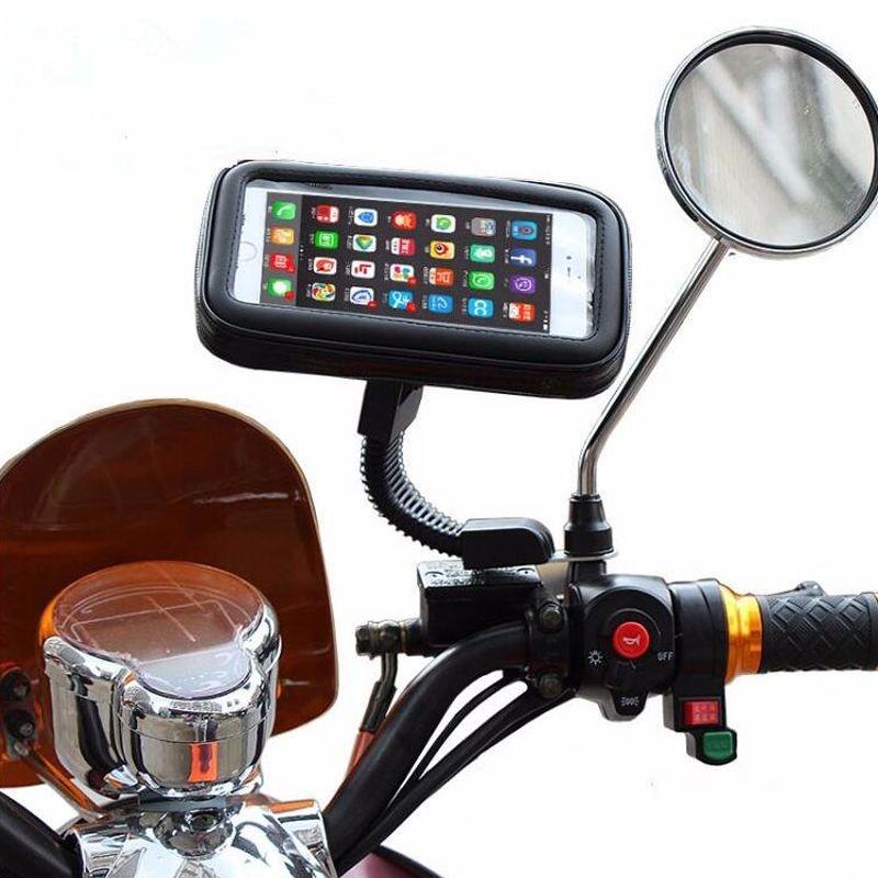 Support de téléphone pour Moto Support 360 Rotatif Pour Moto Support Mobile pour iphone X 7 8 Plus S9 S8 S7 Housse Sac Étanche Universel