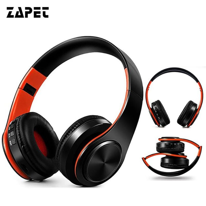 ZAPET Wireless Bluetooth Earphones Headset Stereo <font><b>Headphones</b></font> Earphones with Microphone /TF Card for Mobile Phone Music
