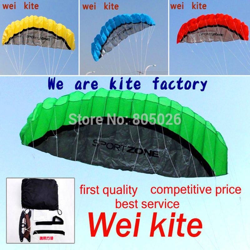 free shipping 2.5m dual Line Stunt power Kite soft kite Parafoil kite <font><b>surf</b></font> flying outdoor fun sports kiteboard