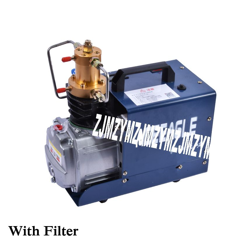 New Hot 1.8KW 220V/50HZ 2800r/min High Pressure Air Pump Electric Air Compressor for Airgun Scuba Rifle Pump Tubing with Filter