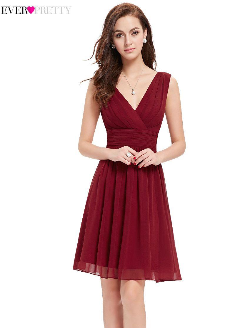 [Venta de liquidación] Elegante Dama de Honor Vestidos HE03989 V Cuello Corto Vestidos de Boda Vestidos Cortos de 2017 de Las Mujeres vestido