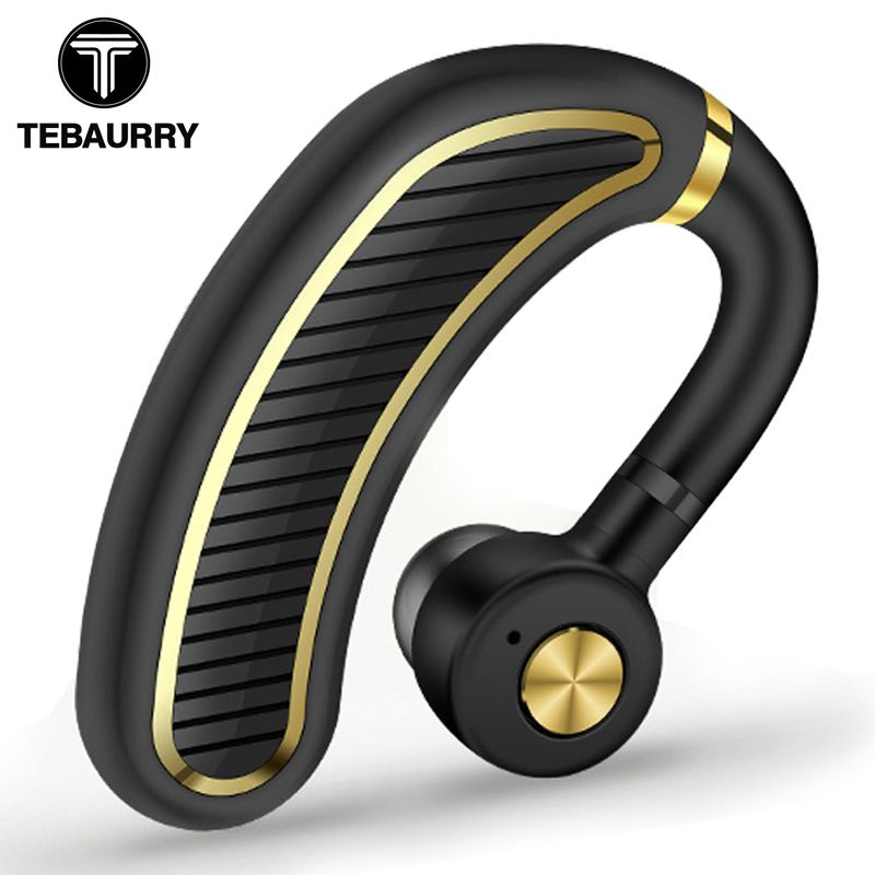 TEBAURRY New 24 Hours Work Time Business Bluetooth Earphone Wireless Headset Bluetooth Headphones with Mic for Driver Office