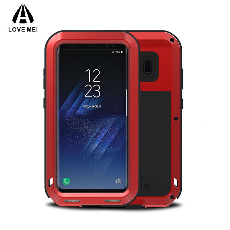 LOVE MEI Metal Case For Samsung Galaxy S8 S8 Plus Cover Powerful Aluminum Armor Shockproof Case For Galaxy S8 S8Plus Coque Capa