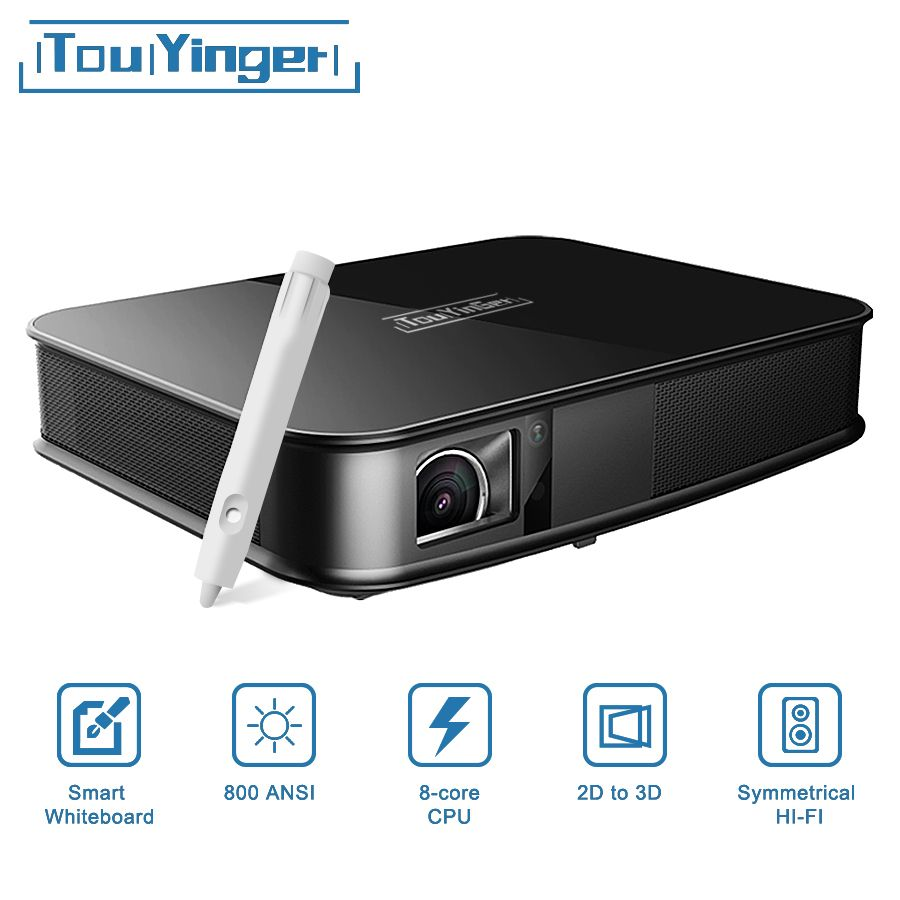 Touyinger G5 800 ANSI Touch 4 karat Smart Projektor Bluetooth Android WIFI Home Theater LED Full HD Mini Projektor DLP video Beamer