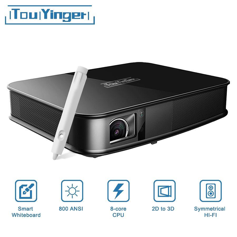 Touyinger G5 800 ANSI Touch 4 karat Smart Projektor Bluetooth Android WIFI Home Theater LED Full HD Mini Projektor DLP video Beamer