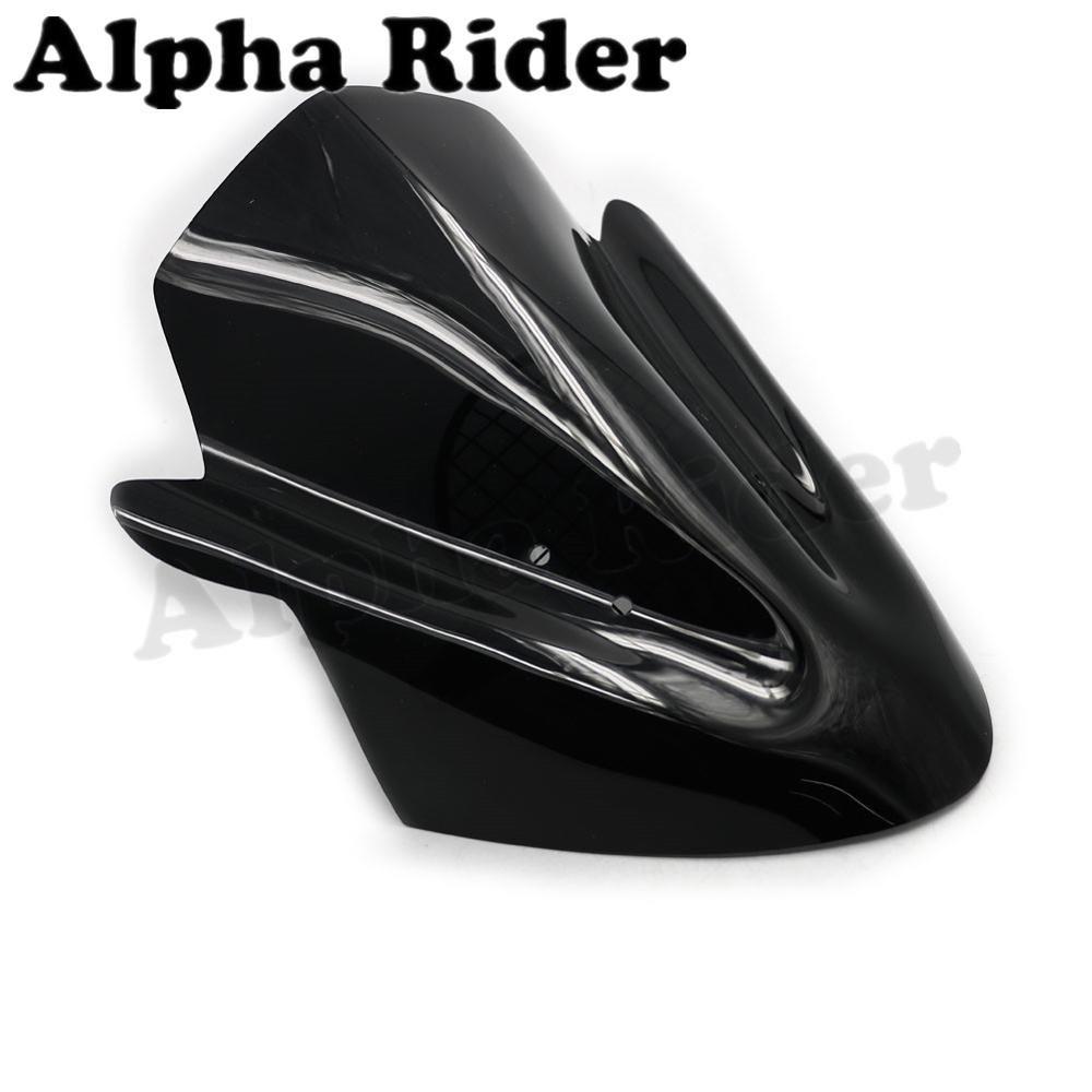 Motorbike Windshield WindScreen ABS for Kawasaki ER-6N 2012 2013 2014 ER6N 12-14 Black Front Glass Wind Screen Airflow Deflector