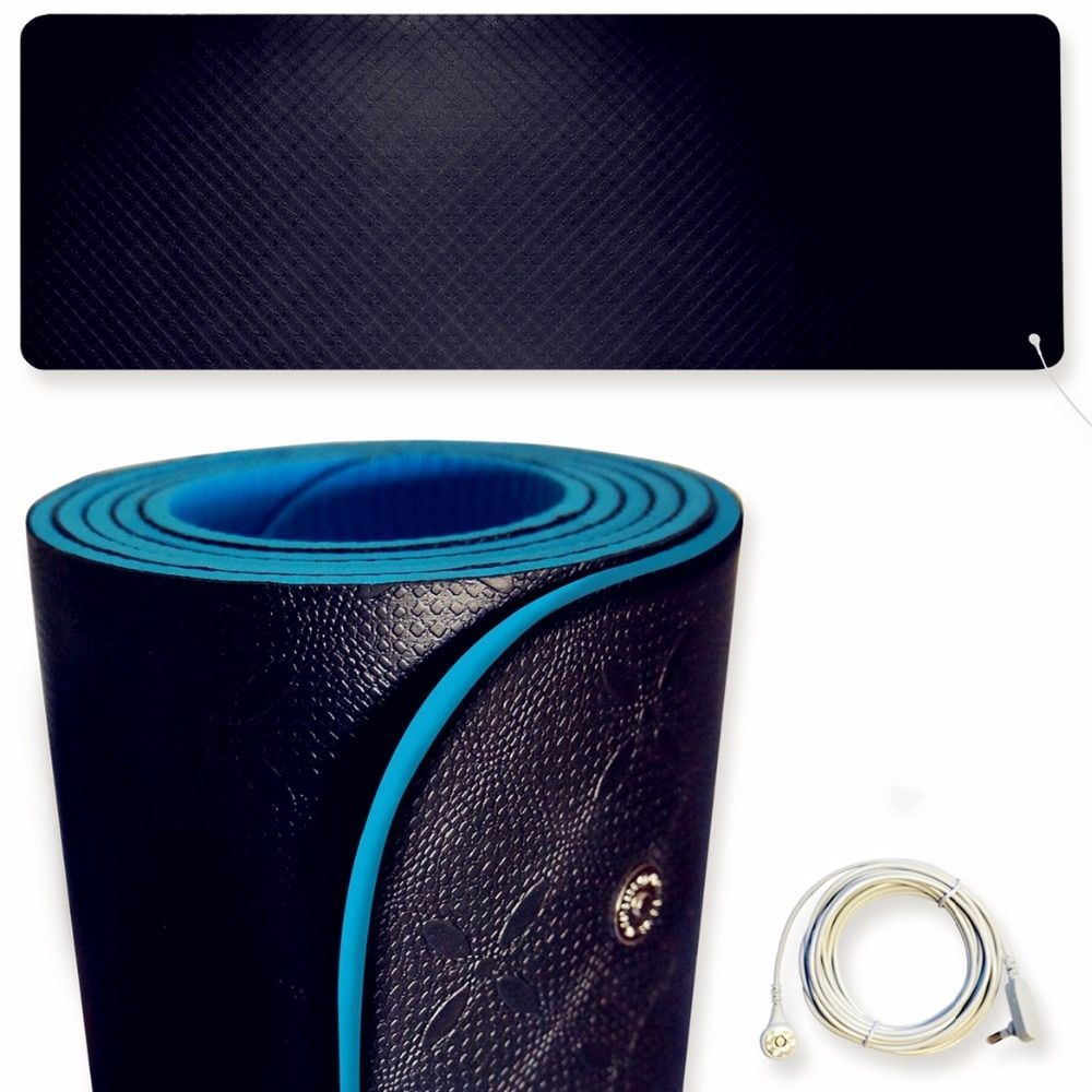 Earthing yoga Mat EMF protection for health 6 foot by 2 foot free DHL OR ems the cord is 5 meter .