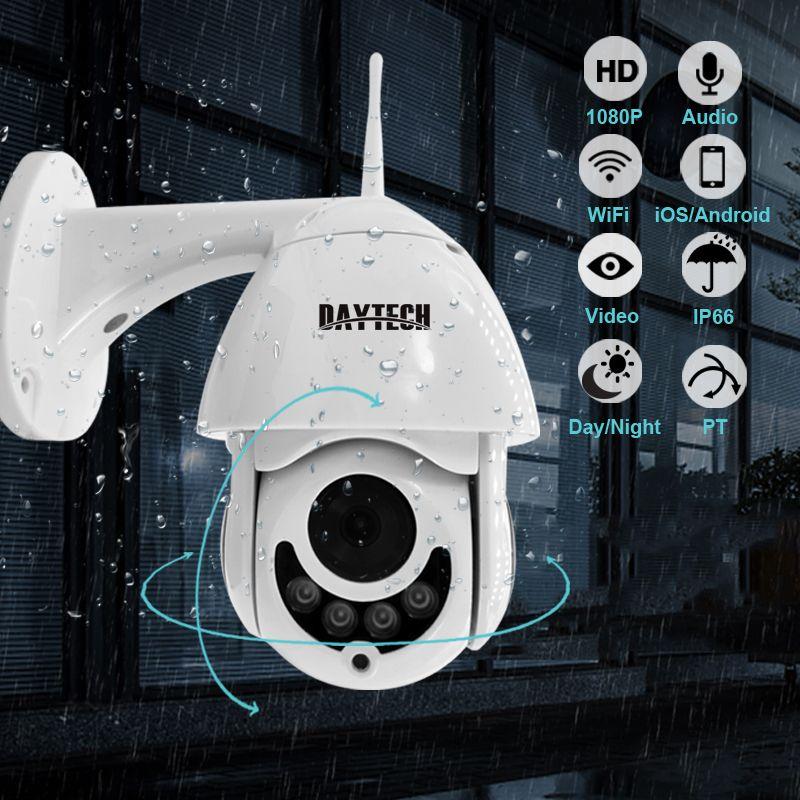 DAYTECH caméra IP 1080P Surveillance WiFi caméra CCTV réseau moniteur enregistrement étanche intérieur/extérieur deux voies Audio panoramique inclinaison