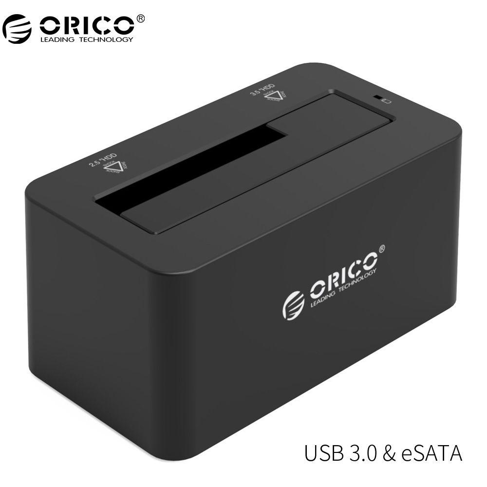 ORICO eSATA HDD Gehäuse 5 Gbps Super Speed USB 3.0 zu SATA & eSATA Festplatte Docking Station für 2,5 ''/3,5