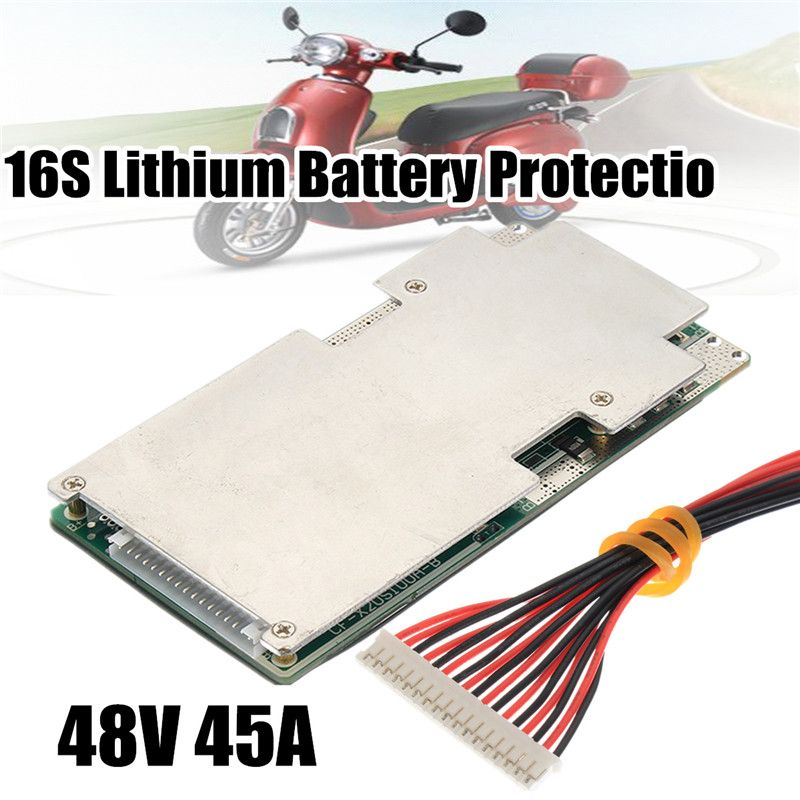 16S 45A 48V Li-ion Lithium LiFePo4 Battery BMS LFP PCM Power Protection Board Integrated Circuits Board