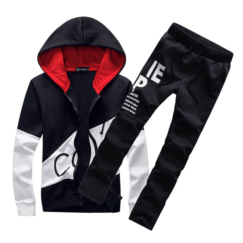 5XL Large size Mens sporting suits tracksuit men set sportswear sweatsuit male sweat track suit warm jacket hoodie with pants