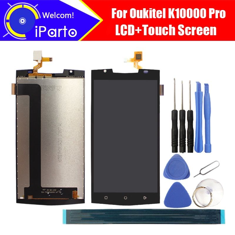 5.5 ''Oukitel K10000 Pro Écran lcd + Écran Tactile Digitizer Assemblée 100% Original Testé LCD Écran Panneau de Verre Pour K10000 Pro