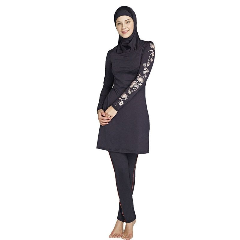 muslim swimwear female bathing suit two piece swimsuit for women plus size muslim swimming beachwear 2016 new Islamic Swimsuit