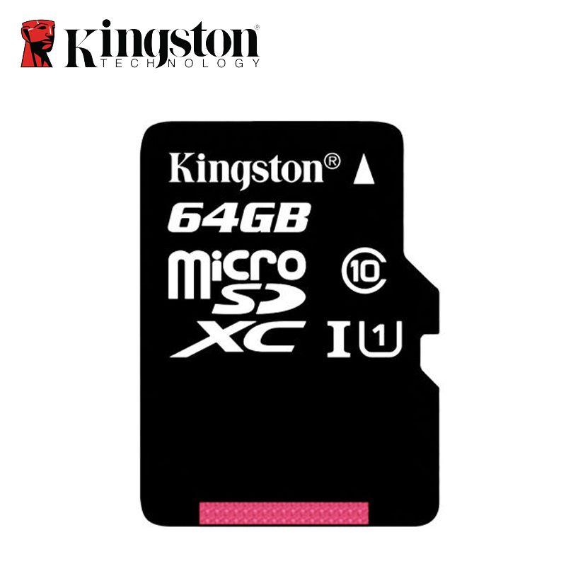 Kingston Micro Sd Carte Mémoire 64G class10 Mini Sd Carte 64 gb SDHC/SDXC TF Carte Flash Memoria Micro sd carte UHS-I pour Mobile téléphone