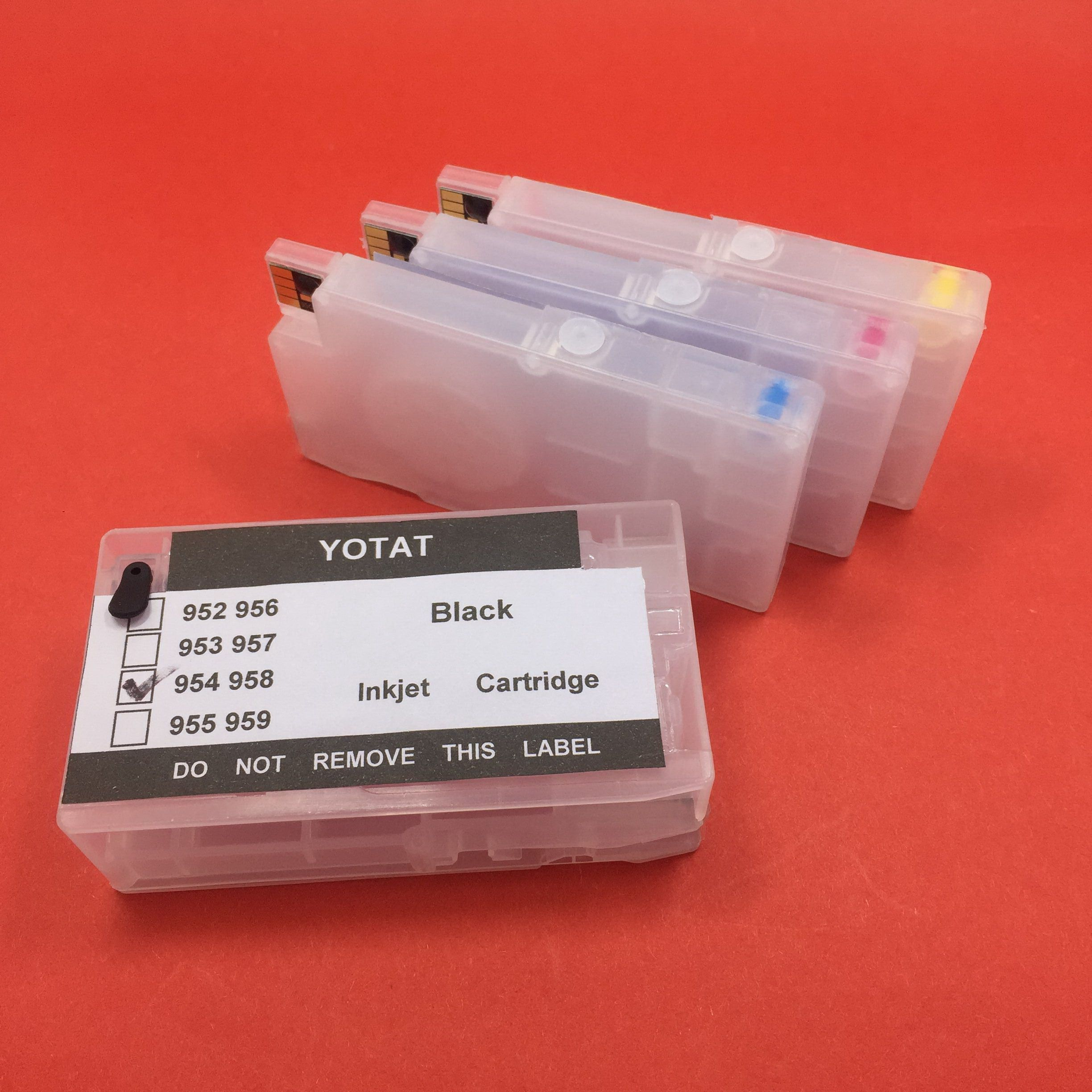 YOTAT Refillable for HP954 954XL ink cartridge for HP OfficeJet Pro 8702 7720 7730 7740 8210 8218 8710 8720 8730 (ARC chip)